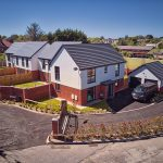 Aerial drone photography of property development in Formby, Merseyside