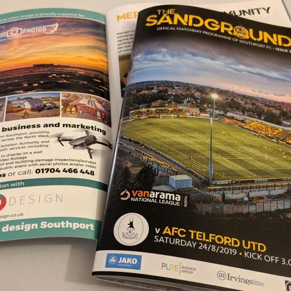 Southport FC's Sandgrounder Match Programme